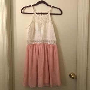 By & by Pink and White Cocktail Dress in Size 13